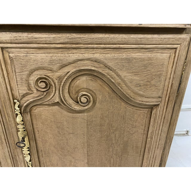 Antique Buffet Provencal Louis XV Style Bleached Walnut Wood For Sale - Image 4 of 8