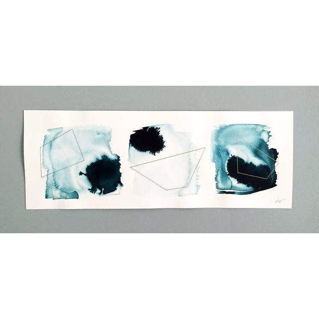 "Beth Winterburn Original Abstract, ""Ink Palette"" - Image 2 of 4"