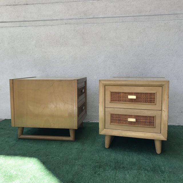 Grand Rapids Mid-Century 2 Drawer Nightstands - A Pair - Image 7 of 7