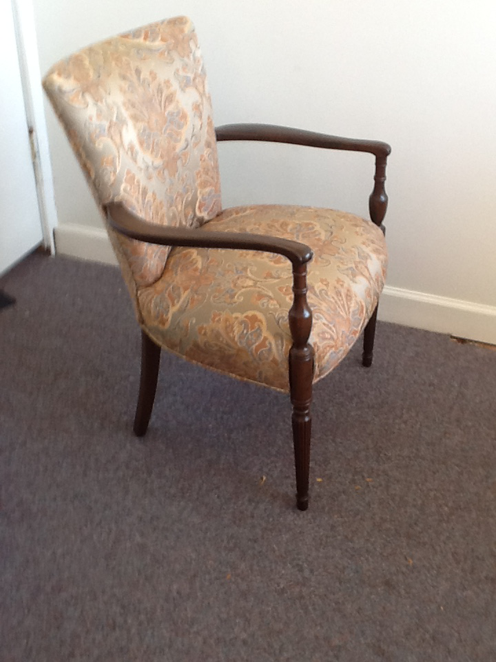 Paisley Print Wooden Corner Chair   Image 2 Of 5