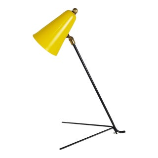 1950s Serge Mouille Style Yellow Enameled Desk Lamp