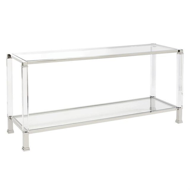 The distinct design of our Claire Console Table is clear! It features mixed materials combining them to create this...