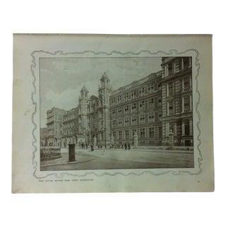 "1906 ""Post Office Savings Bank - West Kensington"" Famous View of London Print For Sale"