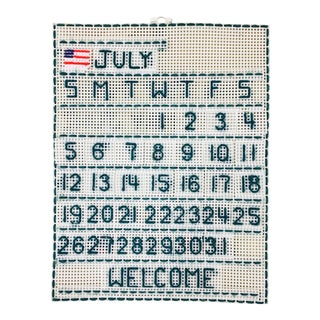 Handmade 'July' Wall Calendar For Sale