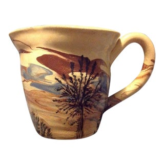 Sevierville Pottery Tennessee Art Pottery Creamer Tree & Sky Motif For Sale