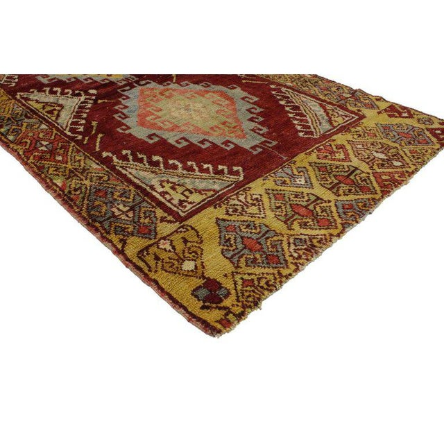 Boho Chic 20th Century Turkish Oushak Accent Rug For Sale - Image 3 of 4