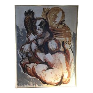 1965 Bette Fast Women Figures Original Painting For Sale