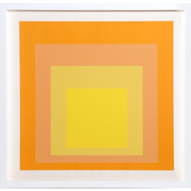 Contemporary Josef Albers - Homage to the Square (Yellow) Framed Silkscreen For Sale - Image 3 of 3