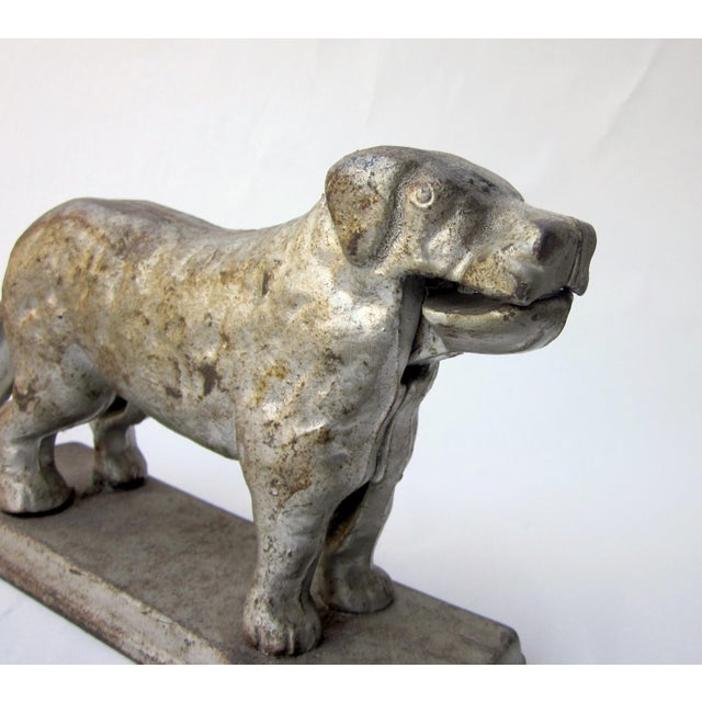 1930s Vintage Cast Iron Dog Golden Retriever Labrador Hinged Tabletop Nutcracker For Sale - Image 4 of 9