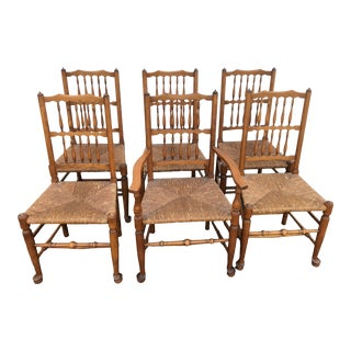 C. 1950 Leopold Stickley Original Cherry Dining Chairs Set of 6 For Sale