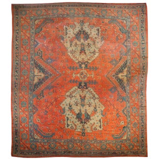 Early 20th Century Turkish Oushak Rug - 12′ × 15′ For Sale