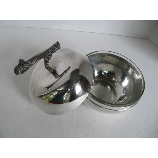 Silver Plated Apple Bowl - Image 3 of 5