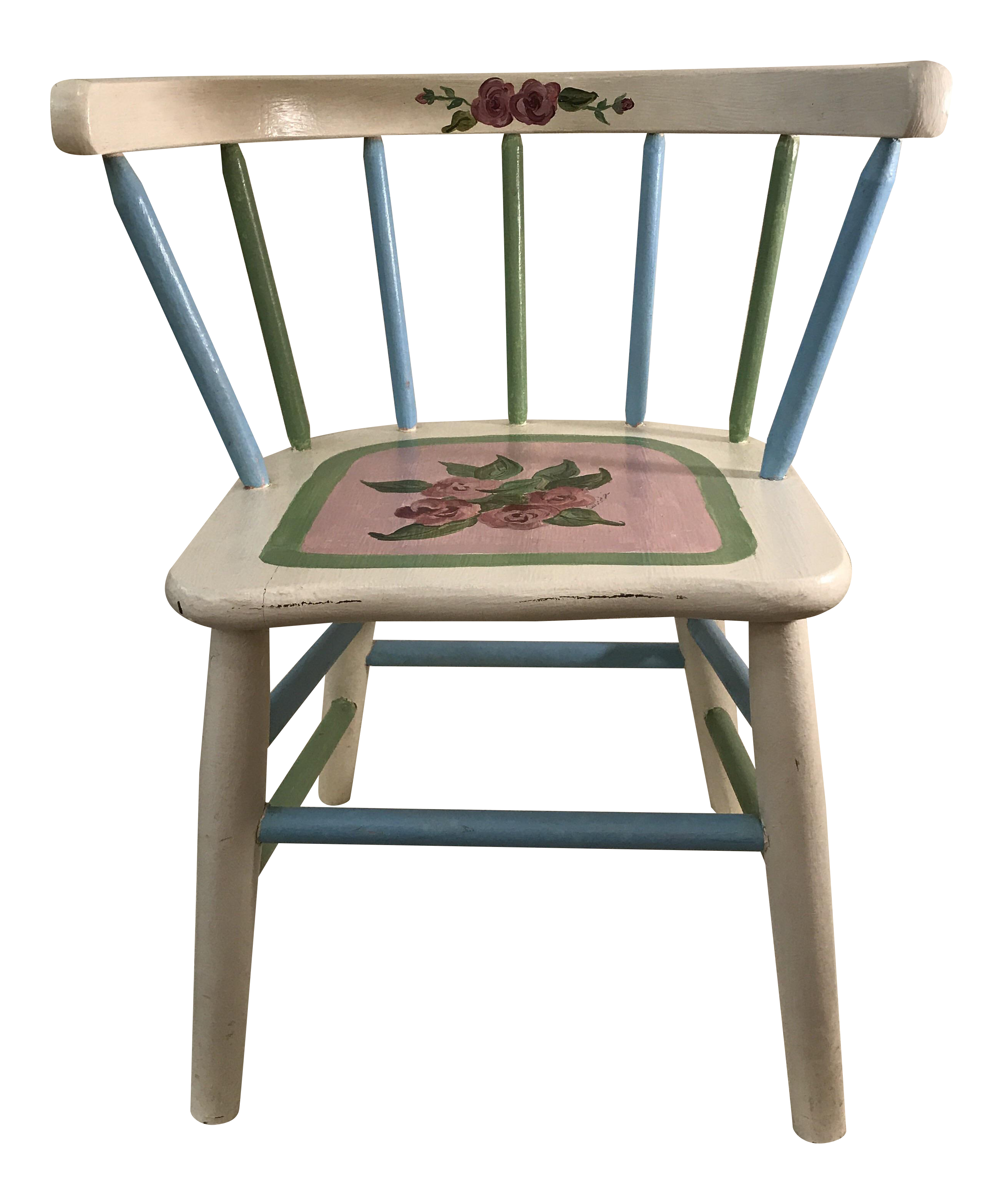 Painted Childu0027s Spindle Chair