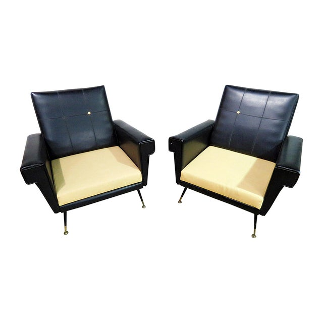 Mid Century Vintage Italian Arm Chairs - a Pair For Sale - Image 11 of 11