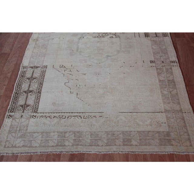 """Islamic Vintage Turkish Muted Wool Rug - 3'11"""" x 5'10"""" For Sale - Image 3 of 11"""