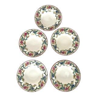 20th Century Royal Cauldon Victoria Bowls- Set of 5 For Sale