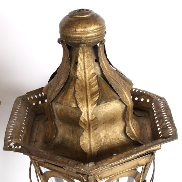 19th Century Pair of 19th Century Italian Processional Lanterns For Sale - Image 5 of 11