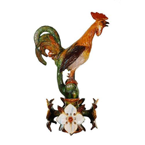 Ceramic Large Terracotta Rooster Figure from Flanders For Sale - Image 7 of 11