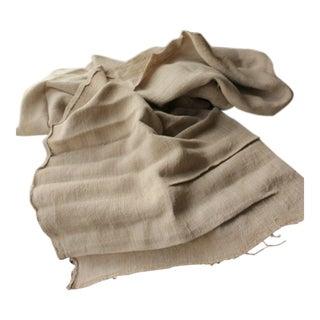 Antique Pure Hemp Natural Fabric Organic Linen Fabric - 4 Yds For Sale