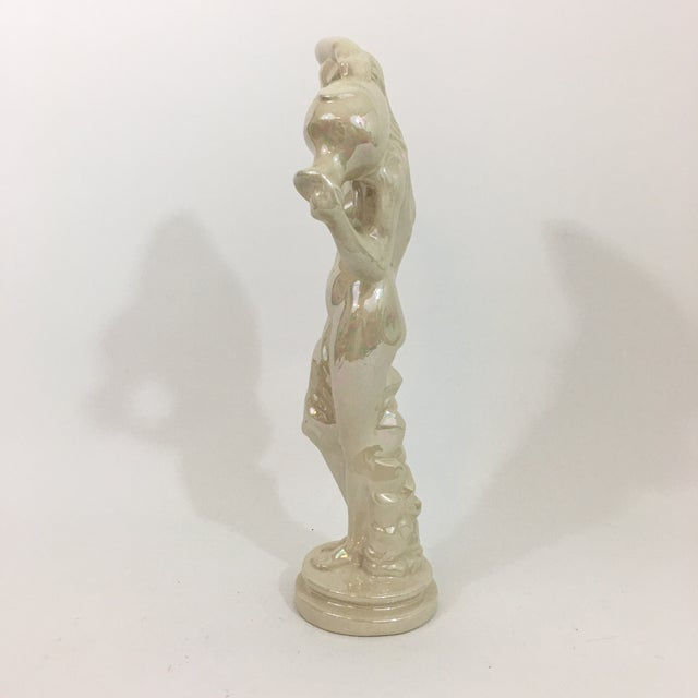 Art Deco Iridescent Ceramic Water Nymph Statue For Sale - Image 3 of 13
