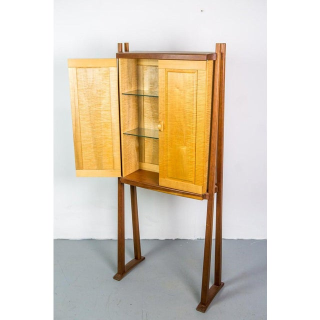Wood Tall Studio Cabinet in Wood by an American Craftsman For Sale - Image 7 of 10