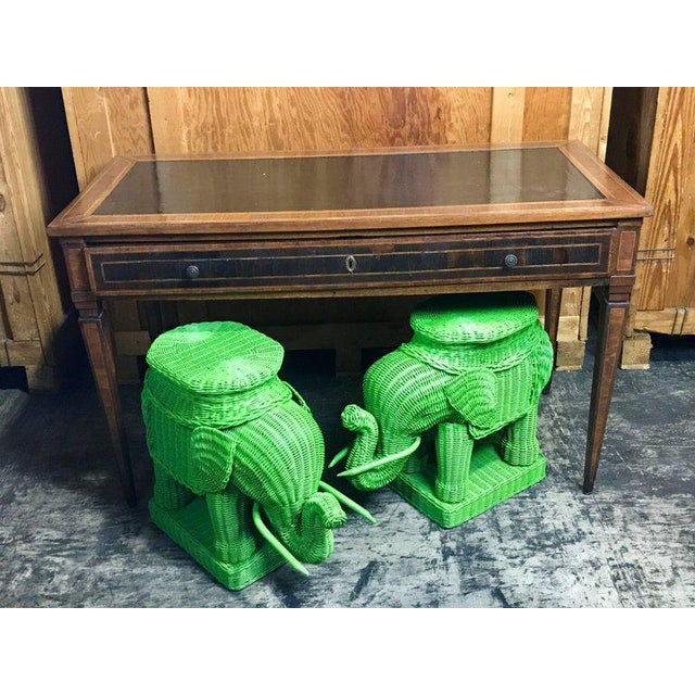 Chinese Export Polychromed Wicker Elephant Garden Seats - a Pair - Image 9 of 10