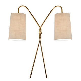 Antique Florentine Twist Gold Leaf Wall Light For Sale