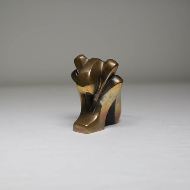 Bronze Small Signed Bronze, circa 1980 by Tom Bennet For Sale - Image 7 of 7