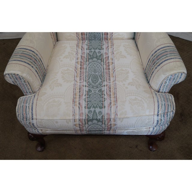 Highland House Hickory Queen Anne Wing Chair - Image 10 of 10