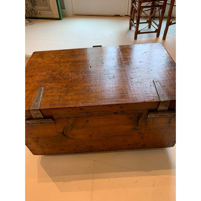 1910s 1910s Vintage Wood Trunk For Sale - Image 5 of 9
