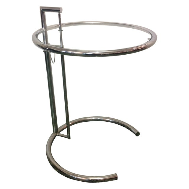 Eileen Gray Chrome Glass Side Table Chairish - Eileen gray end table