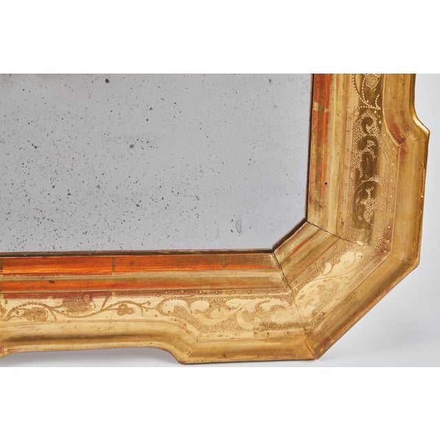 18th Century Gilt Italian Mirror From Lombardy For Sale In Los Angeles - Image 6 of 8