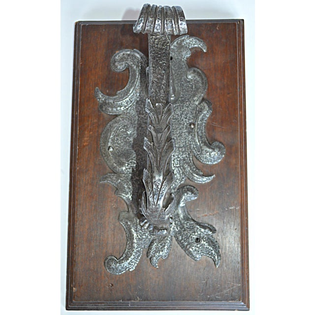French Rococo Hand Wrought Door Knocker - Image 5 of 5