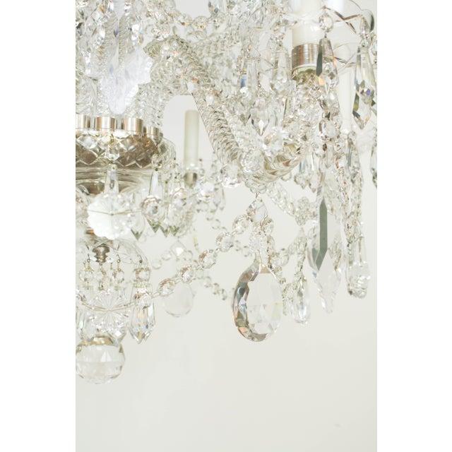 Glass Martinez y Ortz Crystal Chandelier For Sale - Image 7 of 9