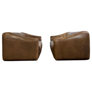 Pair of De Sede Ds 47 Leather Sofa For Sale