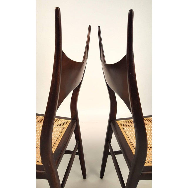 Set of Eight Edward Wormley 5580 Dining Chairs for Dunbar, 1950s For Sale - Image 10 of 13