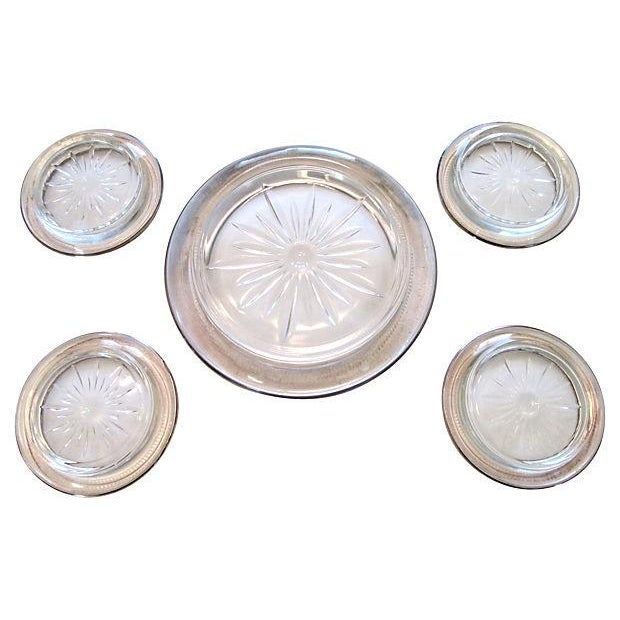 Sterling Bottle & Glass Coasters - Set of 5 - Image 2 of 5