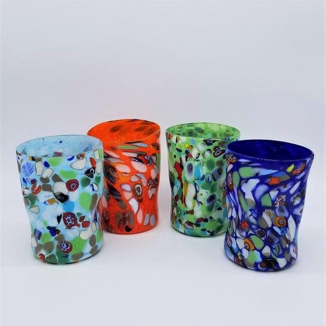 2020s Murano Glass Custom Set of 10 Glasses Goti For Sale - Image 5 of 11
