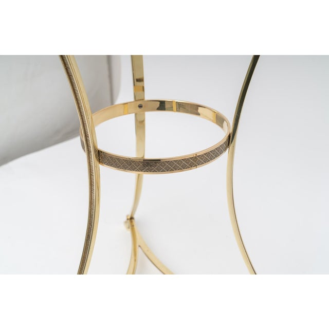 Gold French Regency Style Brass Side Tables by Maison Jansen - a Pair For Sale - Image 8 of 11
