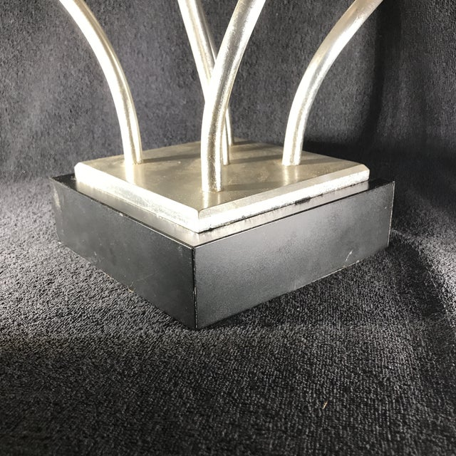 Vintage Mid-Century Modern Abstract Memphis Style Metal and Lucite Flower Sculpture For Sale - Image 11 of 12