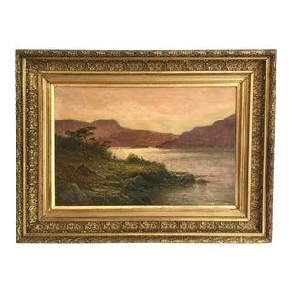 19th Century Antique English School Landscape Oil Painting For Sale