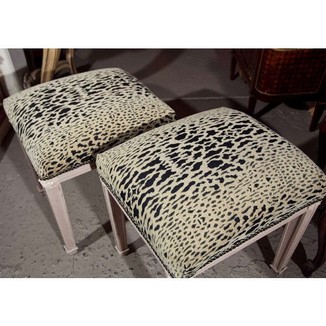 Swedish Style Painted Stools -- A Pair For Sale In New York - Image 6 of 6