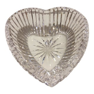 Waterford Heart Shaped Crystal Bowl For Sale