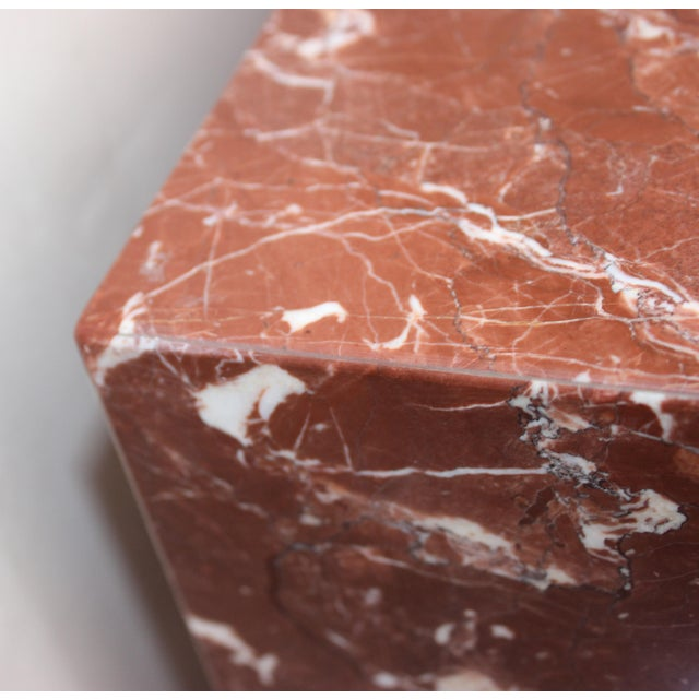 Rouge Marble Pedestal For Sale - Image 4 of 11