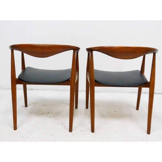 Danish Barrel Teak Armchairs - A Pair - Image 5 of 10