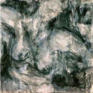 """Abstract Painting by Trixie Pitts """"Nude in Black and White"""""""