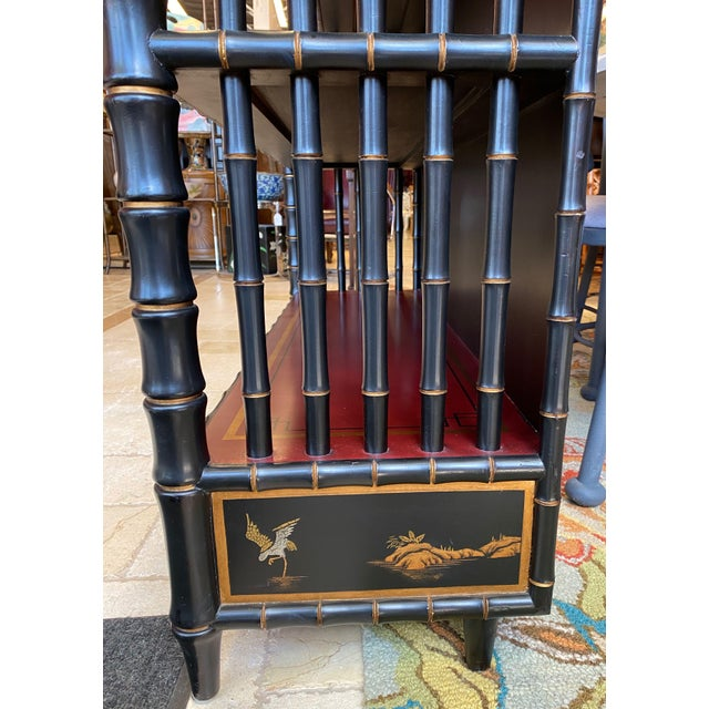 Metal Chinoiserie Mario Buatta Widdicomb Waterfall Bookcase For Sale - Image 7 of 12