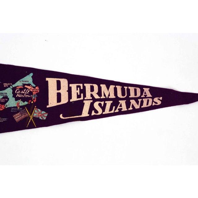 Bermuda Islands Vintage Pennant For Sale - Image 4 of 5
