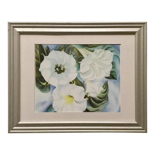 1935 Vintage Jimson Weed Lithograph by Georgia O'Keeffe