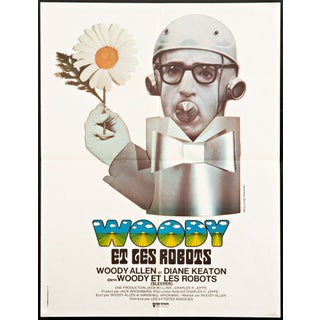 Woody Allen 'Sleeper' French Film Poster